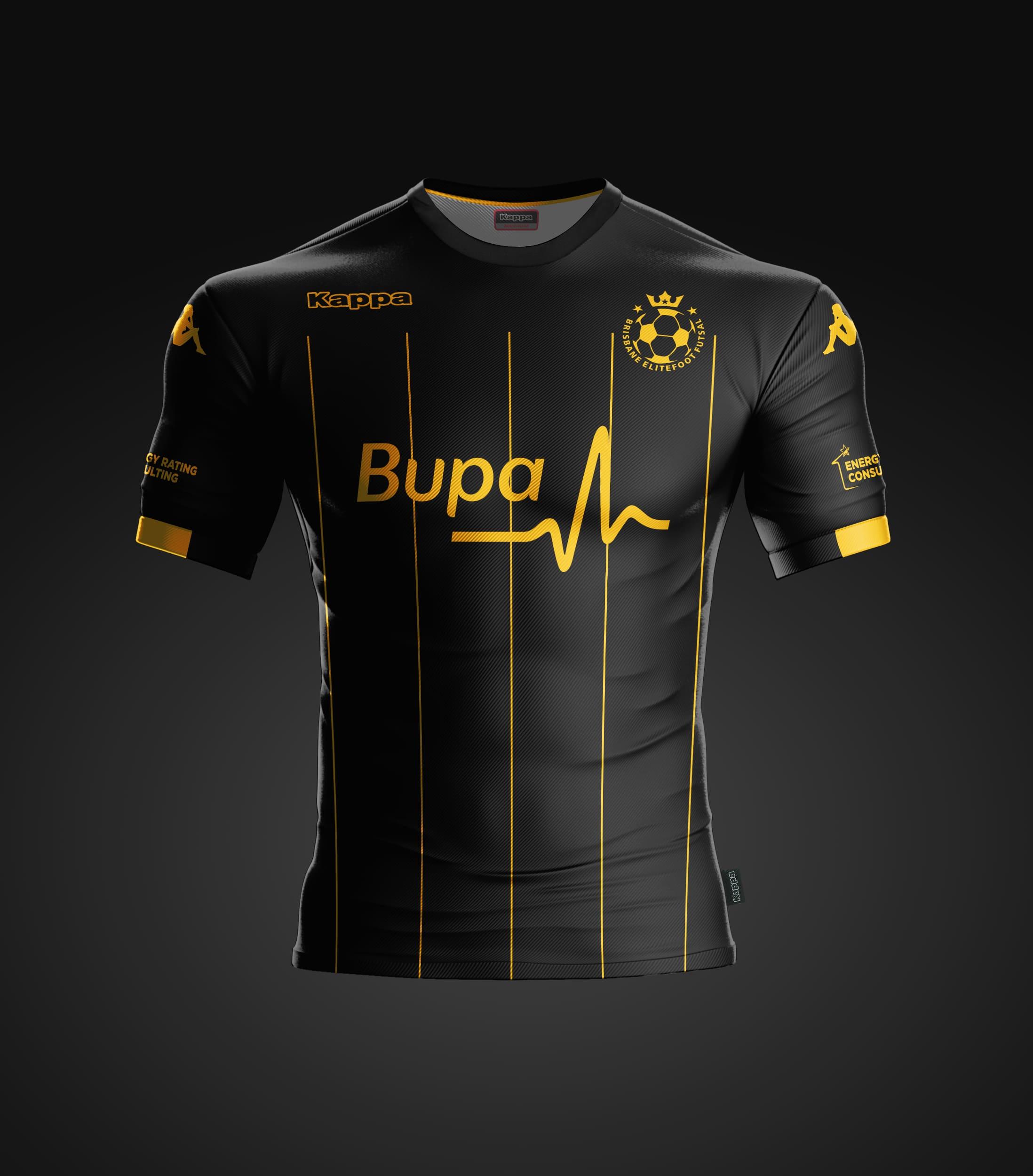 Official Kappa Match Shirt Black